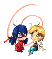 Ladybug and Adrien (Version 2) by sadvi
