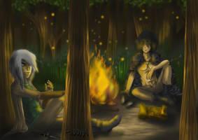 A night, fire burns... :) by Diddha