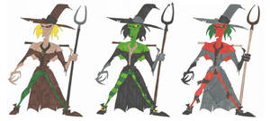 Scarecrow Alternate Color Designs by SpiketheKlown