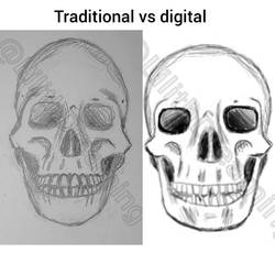 Traditional vs digital by LilithDay