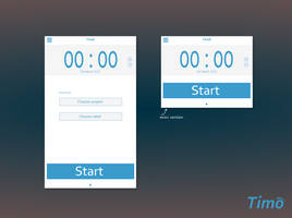 Time panel from app. Timo by jozef89