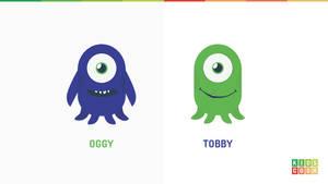 Flat monsters for project Kidscodr by jozef89