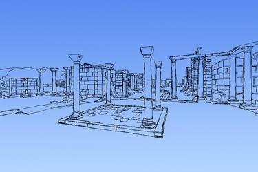 Ruins Sketch 001 by SoniOnna