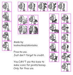 Yoshi icon base by koshechkazlatovlaska