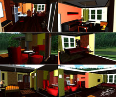 Condominium House - MMD Stage DL by DiemDo-Shiruhane