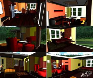 Condominium House - MMD Stage DL by DiemDo-Shiruhane