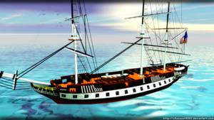 US Constitution Battleship - MMD Acc DL by DiemDo-Shiruhane