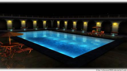 Night Pool by DiemDo-Shiruhane