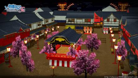 Hachi-hachi hana no kassen_ MMD stage DL by DiemDo-Shiruhane