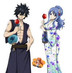 Gray and Juvia (Render #5) by Namyle