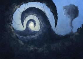 Fantasy Landscape by paperplait