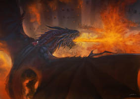 The Destruction Of Harrenhal by Drawslave