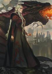 Daenerys Targaryen by Drawslave