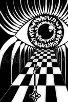Eye of the Beholder - B and W by ABitMadInTheHead