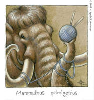 Mammuthus primigenius by kyoht