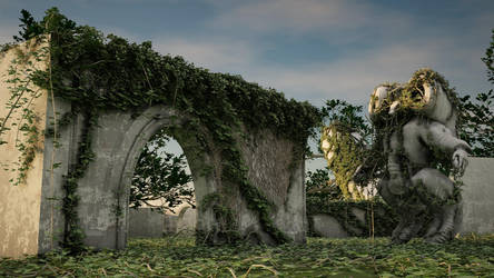 Turned to stone and overgrown. by StaleFlesh