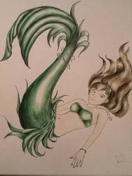 Dark Green Fin Mermaid by Lady-Pinkfins