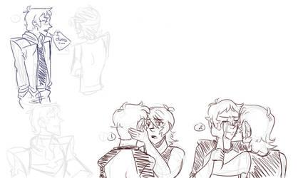 Voltron Doodle Dump 3: Lance Angst by SollinFaolan