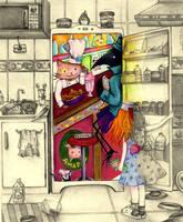 Beyond the fridge by LiliumBaker