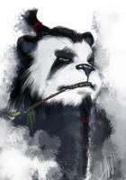 Pandaren Sketch by BrokenZen