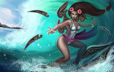 Surfer Irelia by NightmareMoonLuna