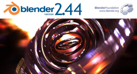 Blender 2.45 splash by Pitel
