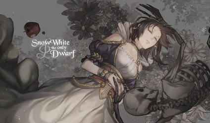Snowwhite and the only dwarf by loxsiana