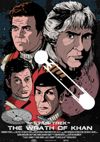 Star Trek II Wrath of Khan Poster by DaveMilburn
