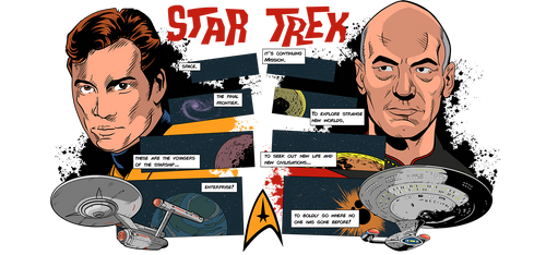 Star Trek from OS to TNG by DaveMilburn