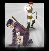 Stealthman and Stealthgirl by marjoh