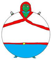 Inflated Miss Martian (Fanart) by jonwii