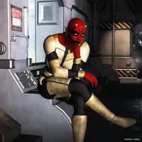 Zabrak Bounty Hunter (OC) by deviant-clown
