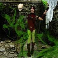 Necromancer In the Ruins by deviant-clown