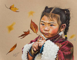 Catching Leaves by Marcysiabush