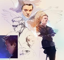 Hawkeye sketchdump2 by Syllirium