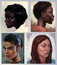 Face Studies 1 by Syllirium