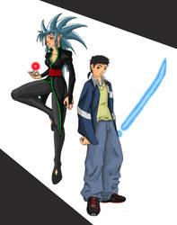 Tenchi and Ryoko by BachiGaAtaru