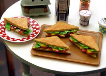 Miniature Sandwiches by ChocolateDecadence