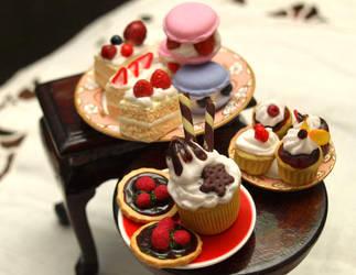 Various Miniature Treats by ChocolateDecadence