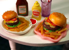 Hamburger 'n' Fries by ChocolateDecadence