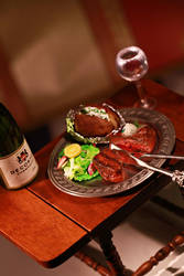 Steak Dinner by ChocolateDecadence