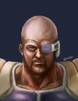 N is for Nappa by mazingerpip