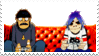 Murdoc and 2-D Stamp by veronica-the-fox