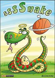 Basketball snake by KrzysztofCzachura