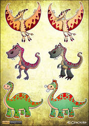 Dinosaurs concept arts by KrzysztofCzachura