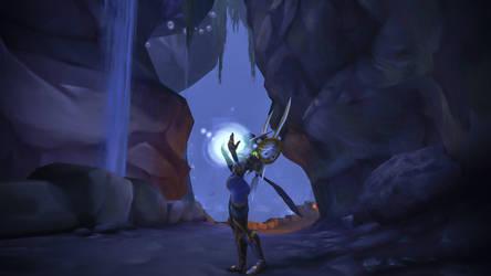 Leandriel - deep in a cave by Lafiriel