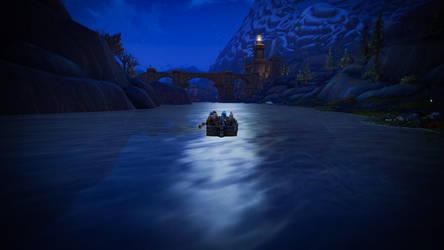 Crossing by boat on Kul Tiras by Lafiriel