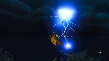 Through the thunderstorm... by Lafiriel