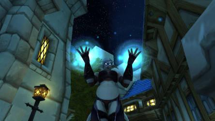 Arktica - using her evil powers by Lafiriel