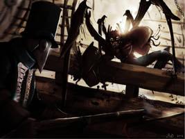 merman fight speed paint by ShinoShoe26